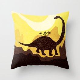 Dino Land Throw Pillow