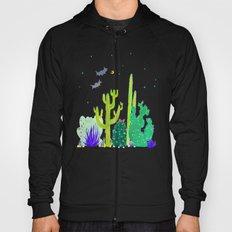 Watercolour Cactus & Bats Hoody