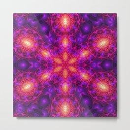Dark Star Mandala Metal Print