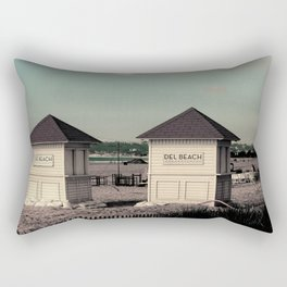 Del Beach Huts Rectangular Pillow