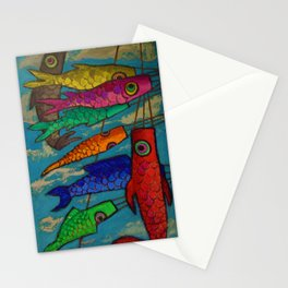 African American Masterpiece 'Chinese Kites' by Ellis Wilson Stationery Cards