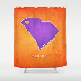 Perfect Clemson Tigers Shower Curtain