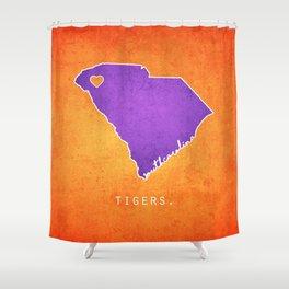 Clemson Tigers Shower Curtain