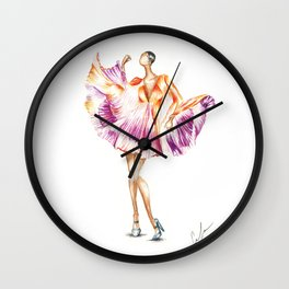 Pleats on Pleats Wall Clock