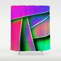 grafitti Shower Curtains featuring Grafitti by Party Peeps