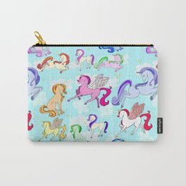 Unicorns repeating pattern Carry-All Pouch