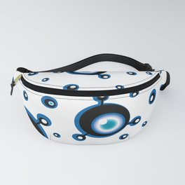 Justified Paranoia Blue Fanny Pack