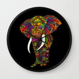 Elephant Kaleidoscope - Watercolor Wall Clock