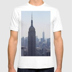 South New York City Mens Fitted Tee MEDIUM White