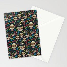 Day Of The Dead Pattern | Dia De Los Muertos Skull Stationery Cards