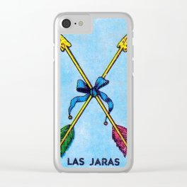 Las Jaras Mexican Loteria Bingo Card Clear iPhone Case