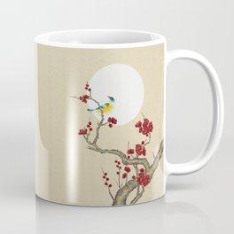 Plum blossoms, bird and the moon Type E (Minhwa: Korean traditional/folk art) Coffee Mug