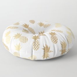 Pink & Gold Pineapples Pattern Floor Pillow