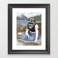 La Raton-laveuse Framed Art Print