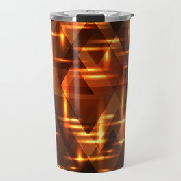Bronze crossings on a gold metal background. Travel Mug
