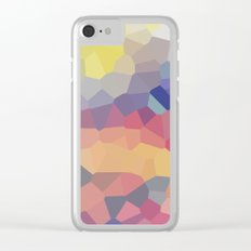 Pastel Geometric Moon Rise Clear iPhone Case