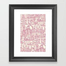Ancient Greece cherry pearl Framed Art Print