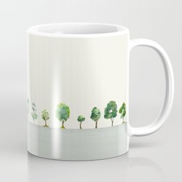 A Row Of Trees Coffee Mug