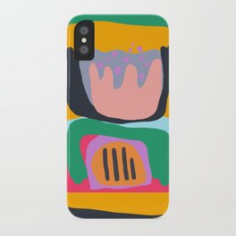 Shapes and Layers no.26 - Modern Abstract Flowers iPhone Case