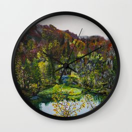 Plitvice Lakes, Croatia Wall Clock