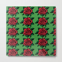 roses with green background Metal Print