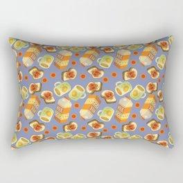 Coffee and Toast (Prune Purple) Rectangular Pillow