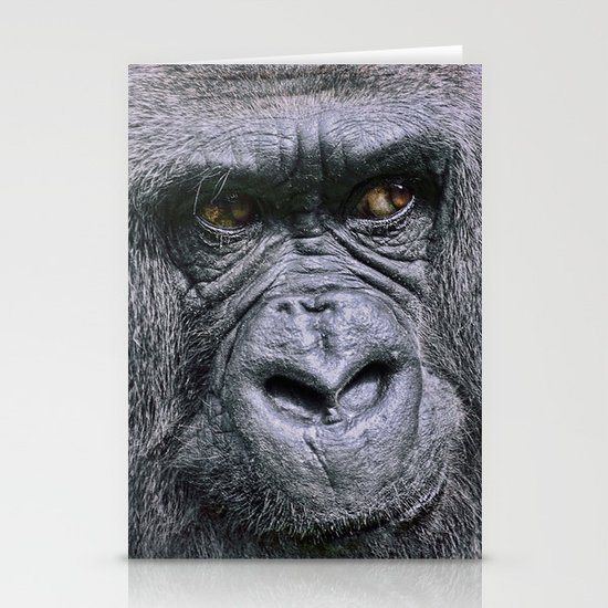 Portrait of a female Gorilla Stationery Cards