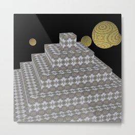 Pyramide Grotesque 28 Metal Print