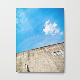 Blue and Grayy Metal Print