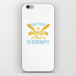 Cool Water Sports Rafting Is Cheaper Than Therapy iPhone Skin