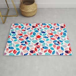 Flower Petals Colorful Pattern Rug