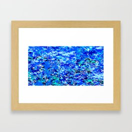 Blue Flames Background Framed Art Print