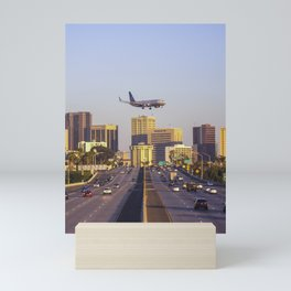 Airplane over San Diego Mini Art Print