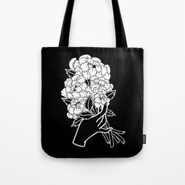 Peony Floral Bouquet Tote Bag