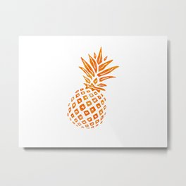 Orange Swirl Pineapple - Single Metal Print