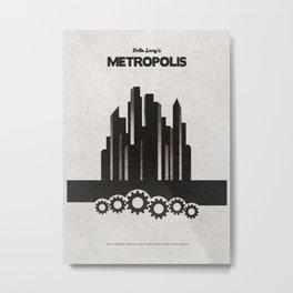 Fritz Lang's Metropolis Alternative Minimalist Poster Metal Print