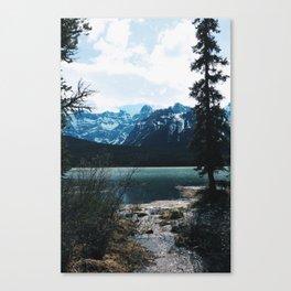 Mountains scene -Banff Canvas Print