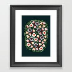 Bed of Flowers Framed Art Print