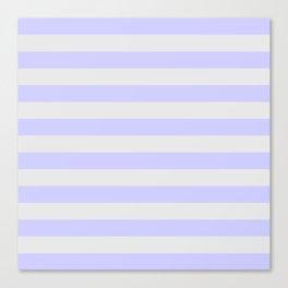 Lavender & Gray Stripes Canvas Print
