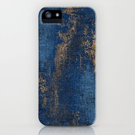 NAVY BLUE AND GOLD PATTERN iPhone Case