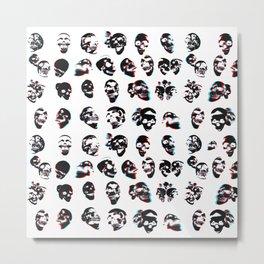 3D Skulls Pattern Metal Print