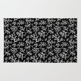 Black and White Coral Rug