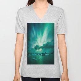 Aurora Borealis. Unisex V-Neck