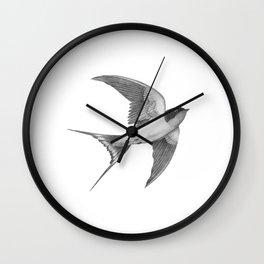 Barn Swallow - mono Wall Clock