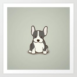 French Bulldog Dog Illustration Art Print