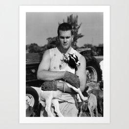 Tom Brady The Goat (B&W) Art Print