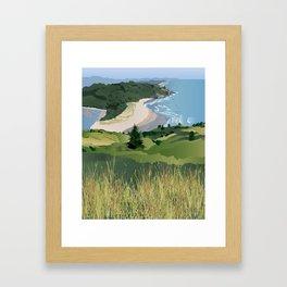 View from Cascade Head Framed Art Print