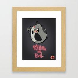 pigeons are evil Framed Art Print