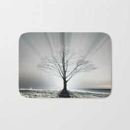 Rays of Fog Bath Mat