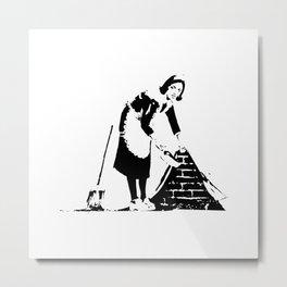 Sweep it Under the Carpet - Banksy Metal Print